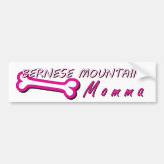 Proud Bernese Mountain Momma Bone Bumper Sticker