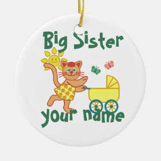 Proud Big Sister Ceramic Ornament