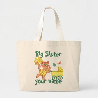 Proud Big Sister Large Tote Bag