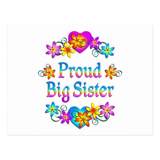 Proud Big Sister Postcard Zazzle