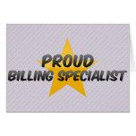 Proud Billing Specialist Cards