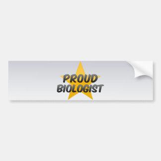 Proud Biologist Car Bumper Sticker