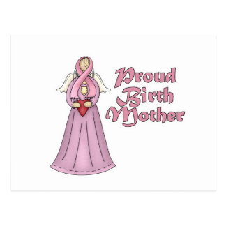 Proud Birth Mother Angel Design Post Cards