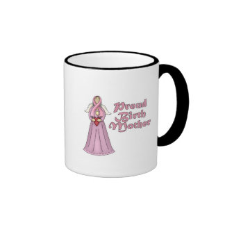 Proud Birth Mother Angel Design Ringer Coffee Mug