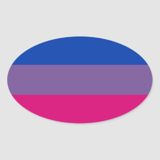 Proud Bisexual Oval Sticker