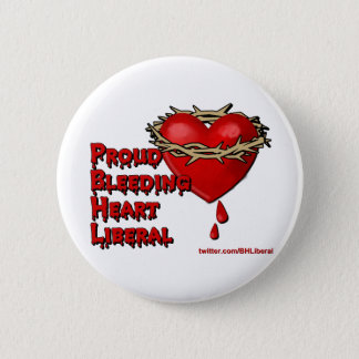 Proud Bleeding Heart Liberal Button