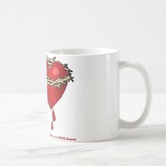 Proud Bleeding Heart Liberal Classic White Coffee Mug