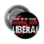Proud Bleeding Heart Liberal Pin