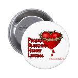 Proud Bleeding Heart Liberal Pinback Buttons