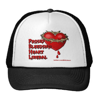 Proud Bleeding Heart Liberal Trucker Hat
