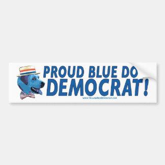 Proud Blue Dog Democrat Bumper Sticker
