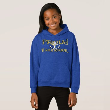 Beach Themed Proud Bluenoser Nova Scotia anchor hoodie sweater