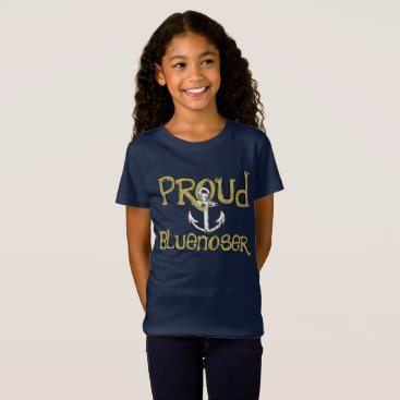 Beach Themed Proud Bluenoser Nova Scotia anchor shirt
