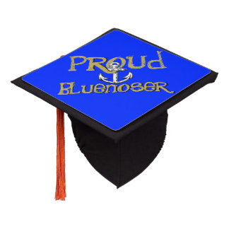 Proud Bluenoser Nova Scotia graduation topper blue