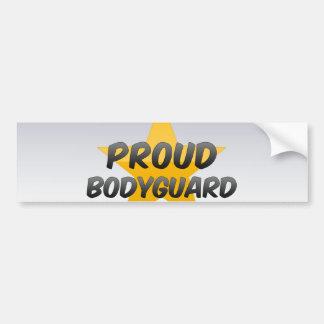 Proud Bodyguard Car Bumper Sticker