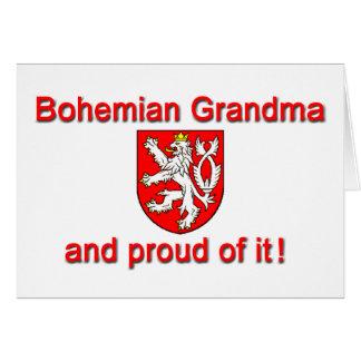 Proud Bohemian Grandma Card