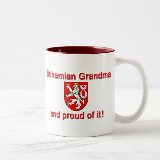 Proud Bohemian Grandma Two-Tone Coffee Mug