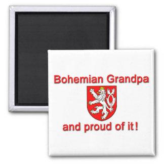 Proud Bohemian Grandpa 2 Inch Square Magnet