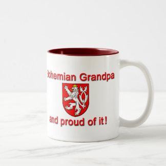 Proud Bohemian Grandpa Two-Tone Coffee Mug
