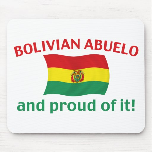 Proud Bolivian Abuelo Mouse Pad