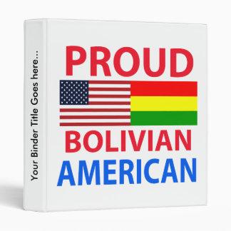 Proud Bolivian American 3 Ring Binder