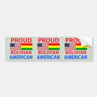 Proud Bolivian American Car Bumper Sticker