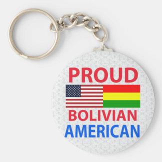Proud Bolivian American Keychain