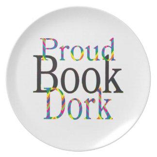 Proud Book Dork Dinner Plate