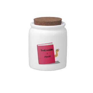 Proud Book Worm Candy Jar