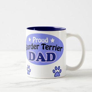 Proud Border Terrier Dad Two-Tone Coffee Mug