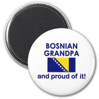 Proud Bosnian Grandpa 2 Inch Round Magnet