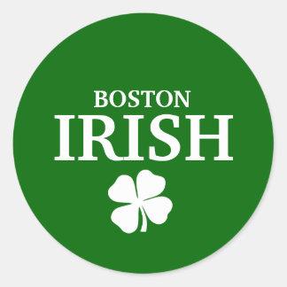 Proud BOSTON IRISH! St Patrick's Day Classic Round Sticker