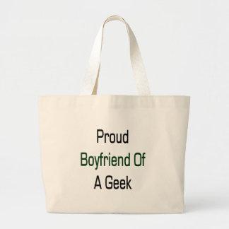 Proud Boyfriend Of A Geek Tote Bags