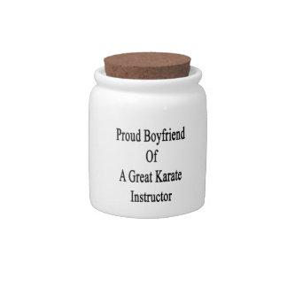 Proud Boyfriend Of A Great Karate Instructor Candy Jar