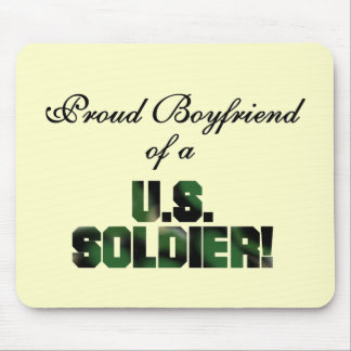 Proud Boyfriend of a US Soldier Tshirts and Gifts Mouse Pad