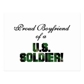Proud Boyfriend of a US Soldier Tshirts and Gifts Postcard