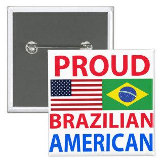 Proud Brazilian American Pinback Button