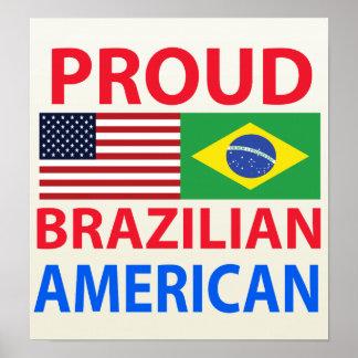 Proud Brazilian American Posters