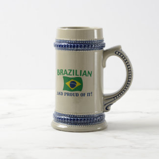 Proud Brazilian Beer Stein