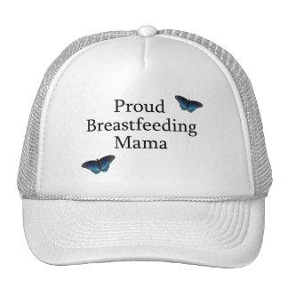 Proud Breastfeeding Mama Blue Butterflies Trucker Hat