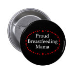 Proud Breastfeeding Mama Red Roses 2 Inch Round Button