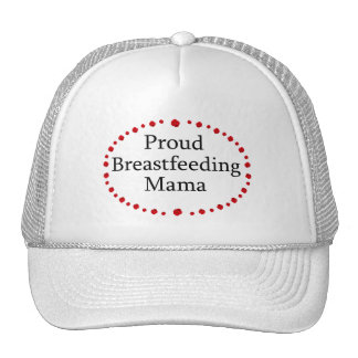 Proud Breastfeeding Mama Red Roses Trucker Hat