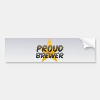 Proud Brewer Car Bumper Sticker