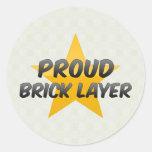 Proud Brick Layer Classic Round Sticker