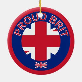 Proud Brit Christmas Ornament