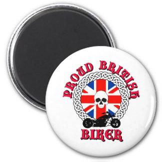Proud British Biker 2 Inch Round Magnet