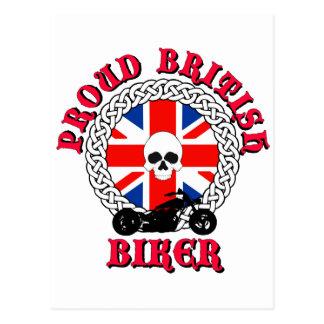 Proud British Biker Postcard