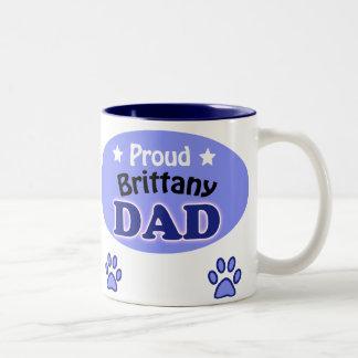 Proud Brittany Dad Two-Tone Coffee Mug