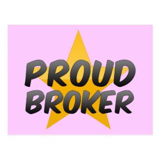 Proud Broker Postcard