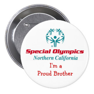 Proud Brother buttin 3 Inch Round Button